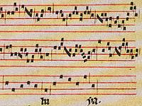 Fragment of Pérotin's work called Alleluia Nativitas
