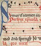 Fragment of the folk song Sumer is Icumen In